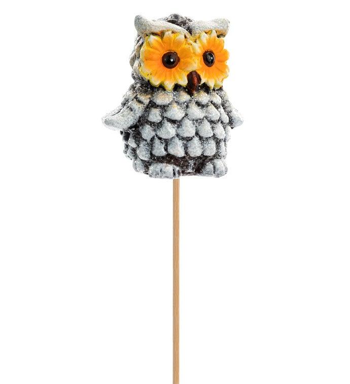 Sunflower Owl Pick