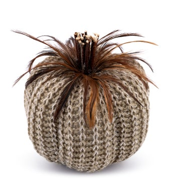 Burlap/Feather Pumpkin