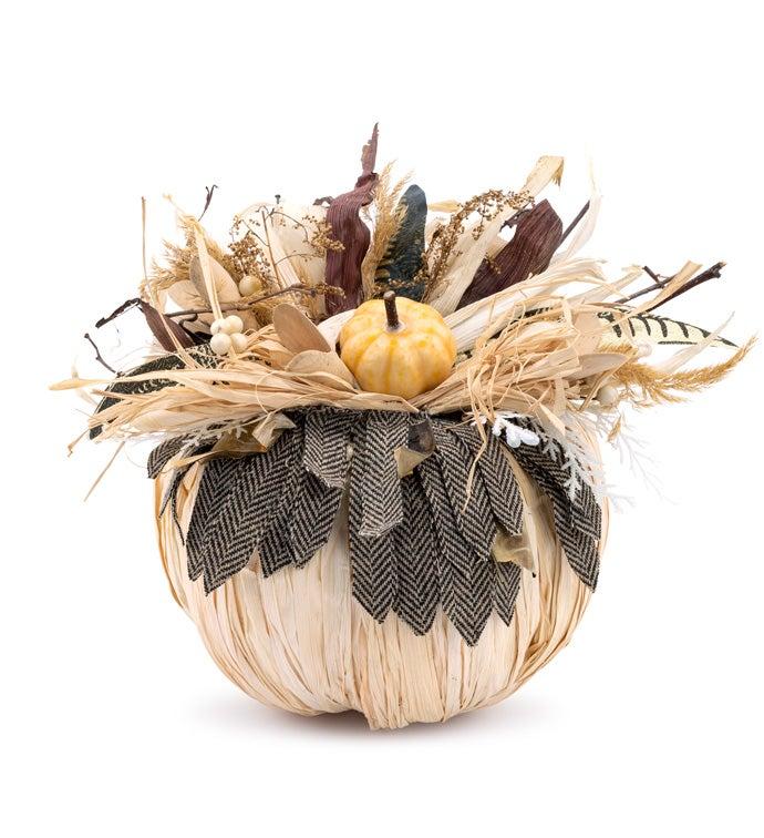 Straw/Feather Pumpkin