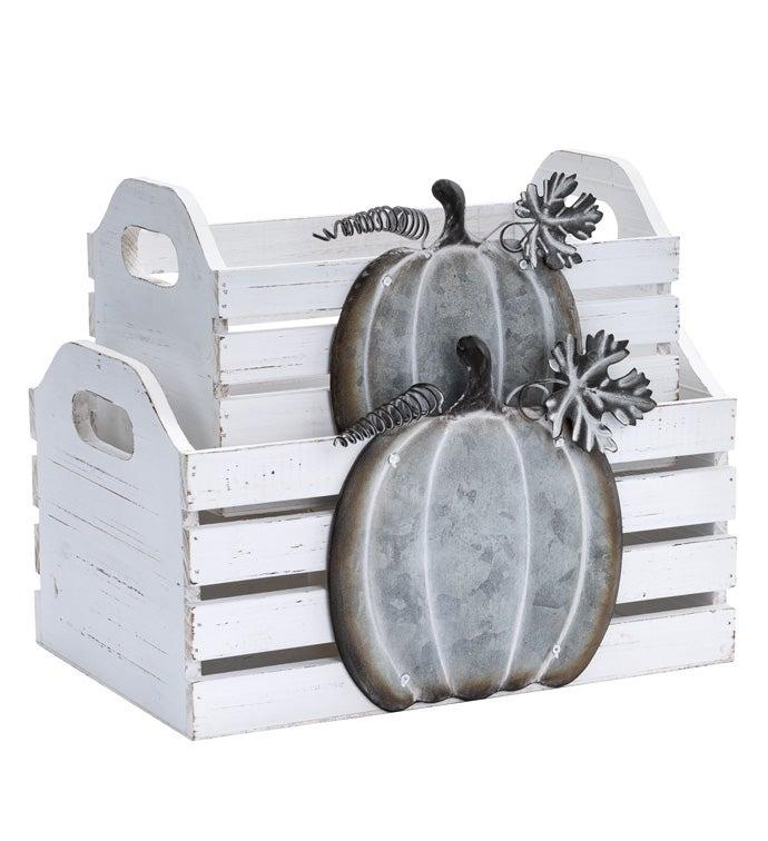 Pumpkin Planter Box, Set of 2