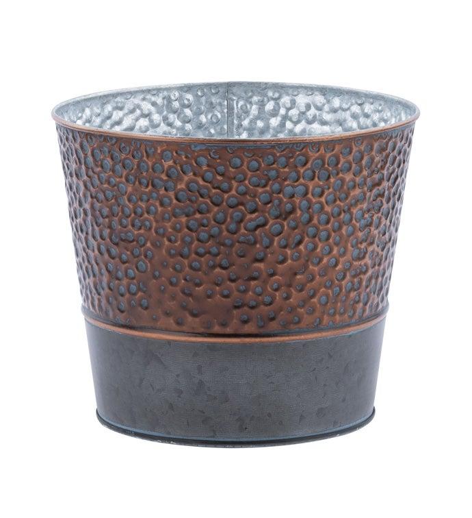 """6.5"""" Aged Copper Pot Cover"""