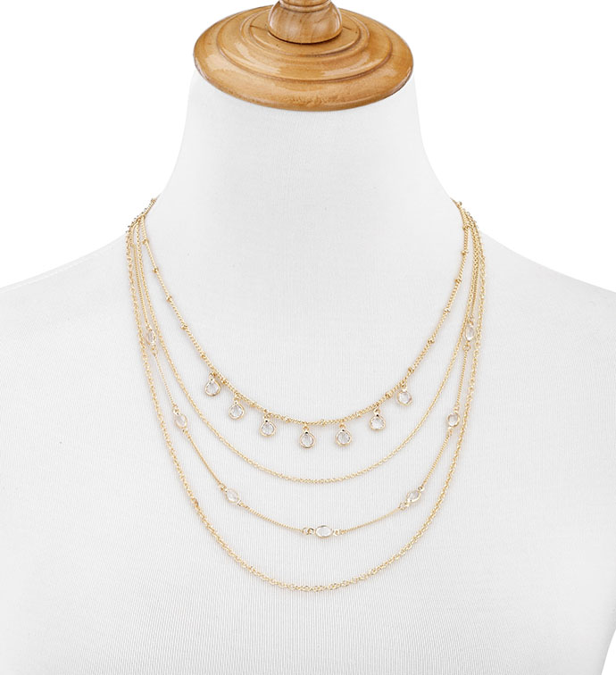 Gold Layered Necklace with