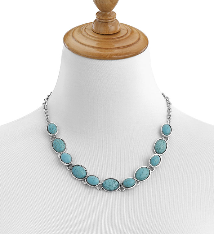 Antique Silver Collar Necklace with