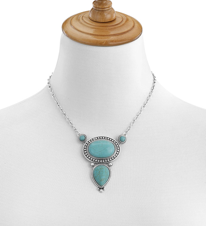 Antique Silver Necklace with