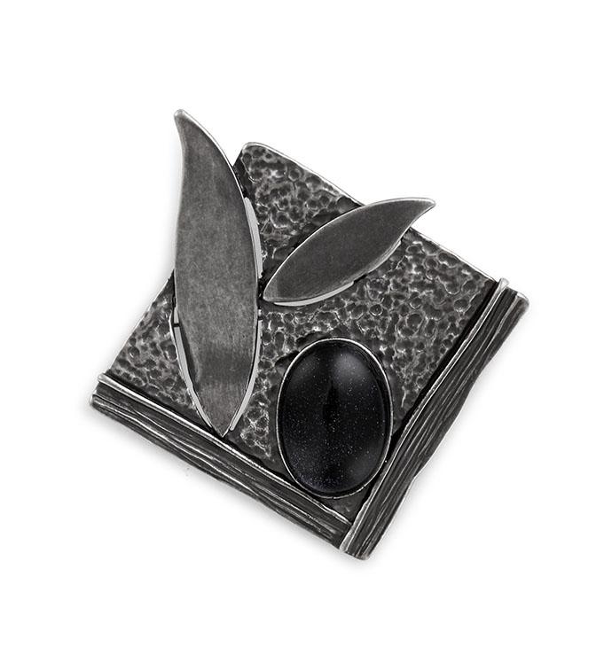 Antique Silver Square Leaf