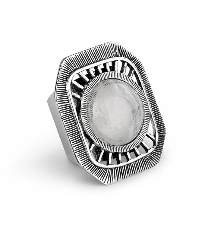 Matte Silver Adjustable Ring