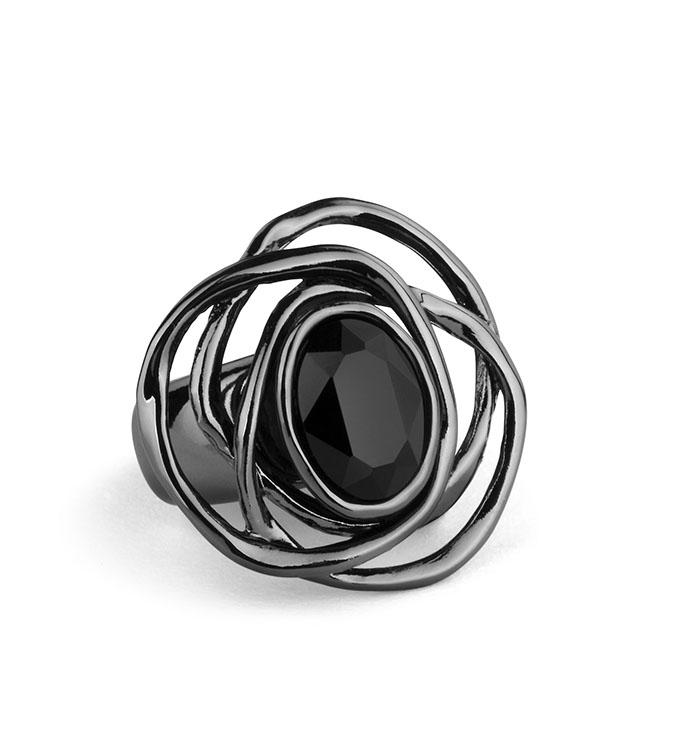 Gunmetal Swirl Adjustable Ring