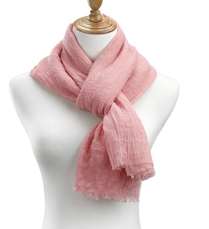 Melon Sheer Gauzy Sparkle Scarf