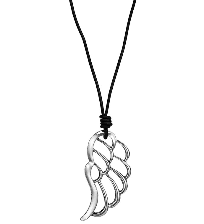 Antique Silver Angel Wing
