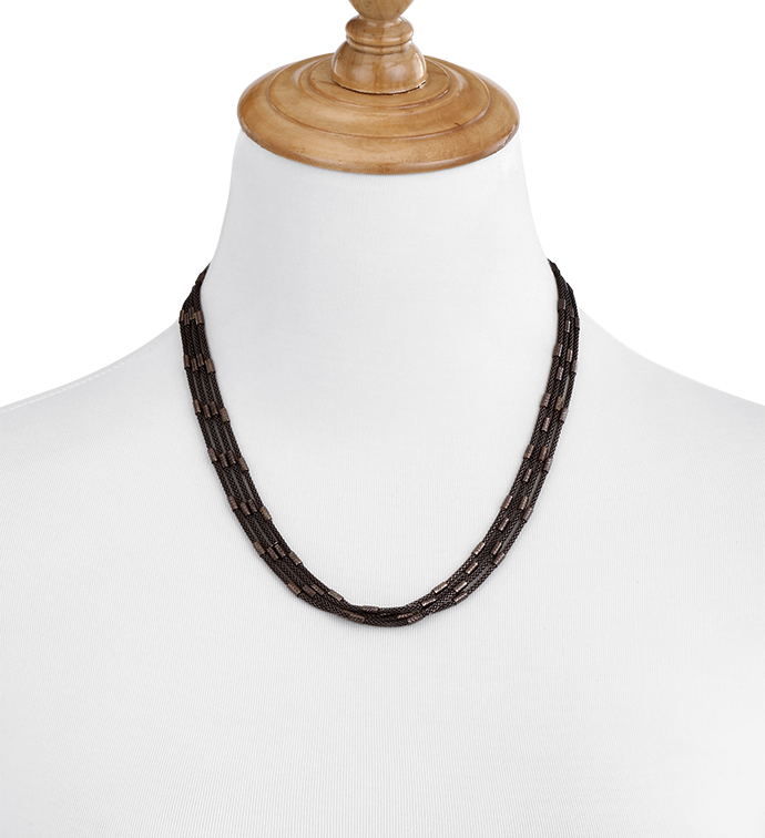 Chocolate Strands Necklace
