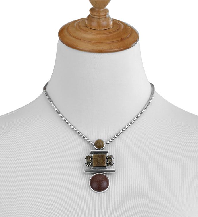 Amber Geometric Necklace