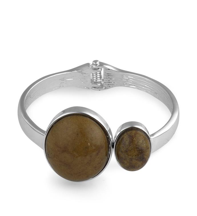 Amber Stones Cuff Bracelet