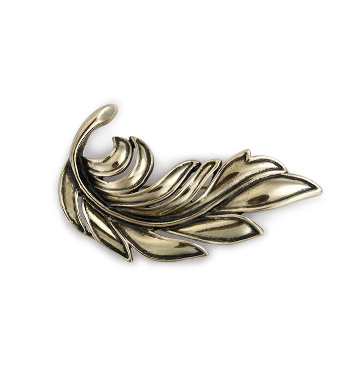 Gold Turning Leaf Pin