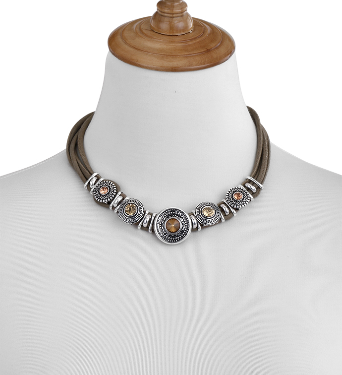 Amber Crystals Necklace