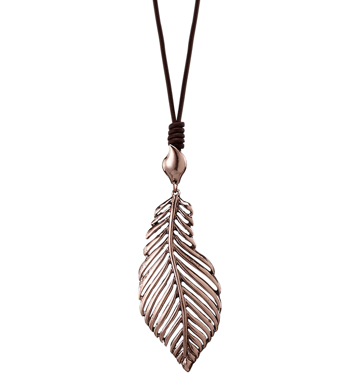 Copper Leaf Necklace
