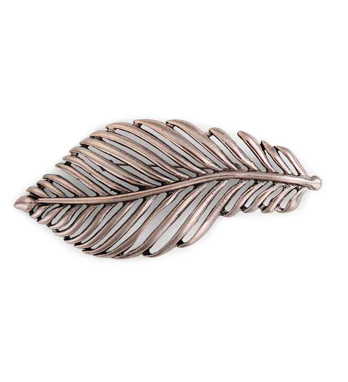 Copper Leaf Pin