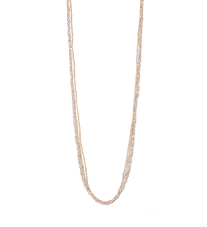 Champagne Twisted Bead Necklace