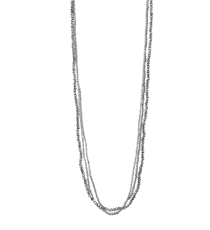 Pewter Twisted Bead Necklace