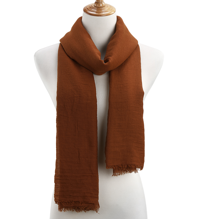 Rust Sheer Gauzy Scarf