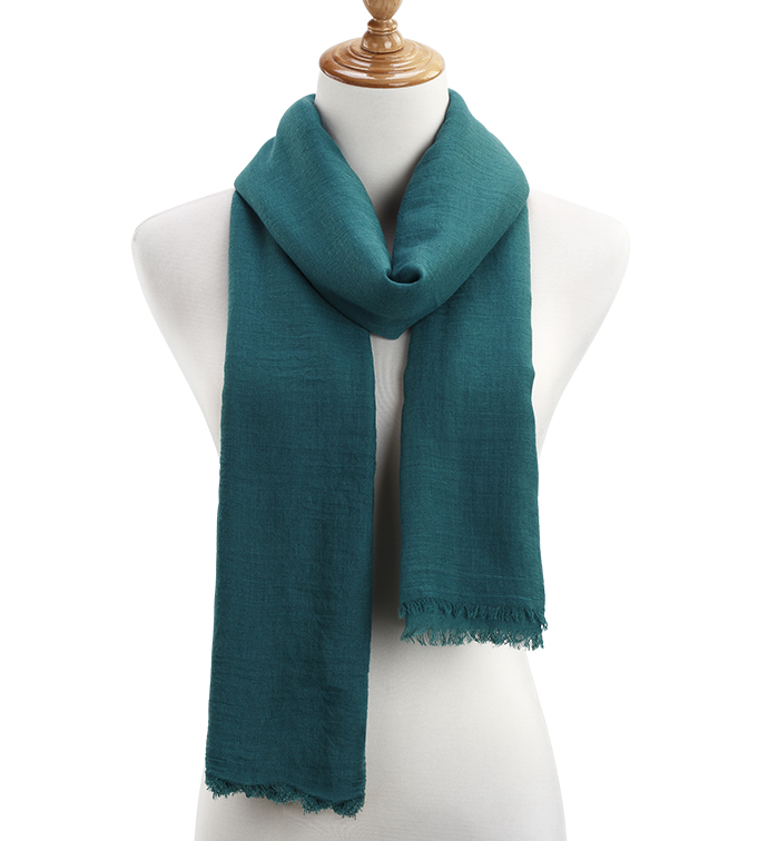 Peacock Sheer Gauzy Scarf