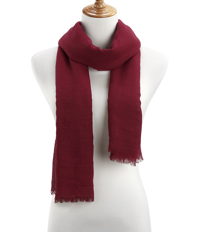 Burgundy Sheer Gauzy Scarf