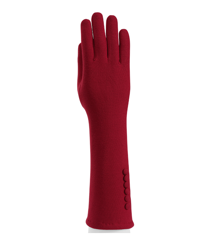 Red Cape Glove with Buttons