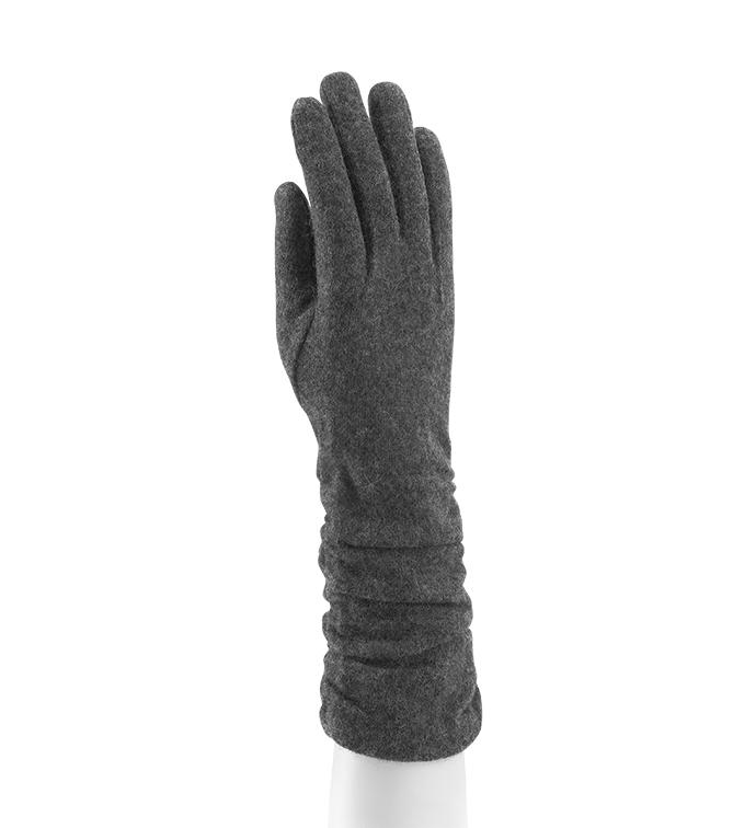 Grey Shirred Cape Glove