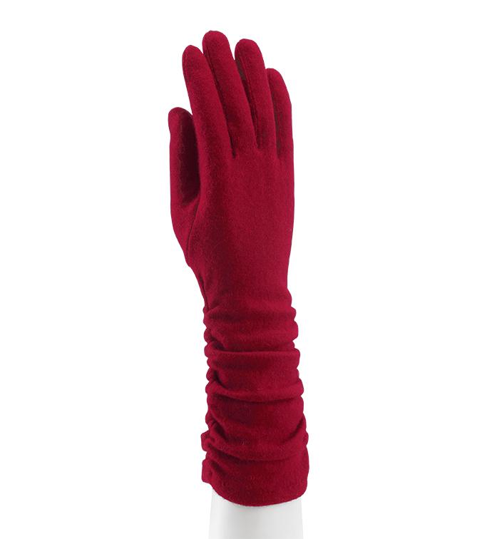 Red Shirred Cape Glove