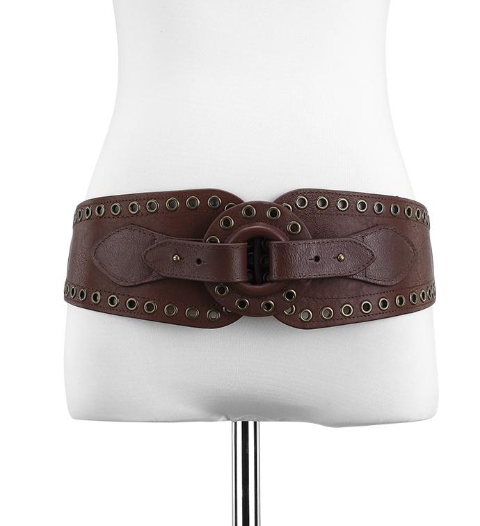Grommet Belt Brown
