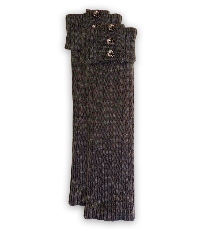 Slate Ribbed Tall Boot Cuff