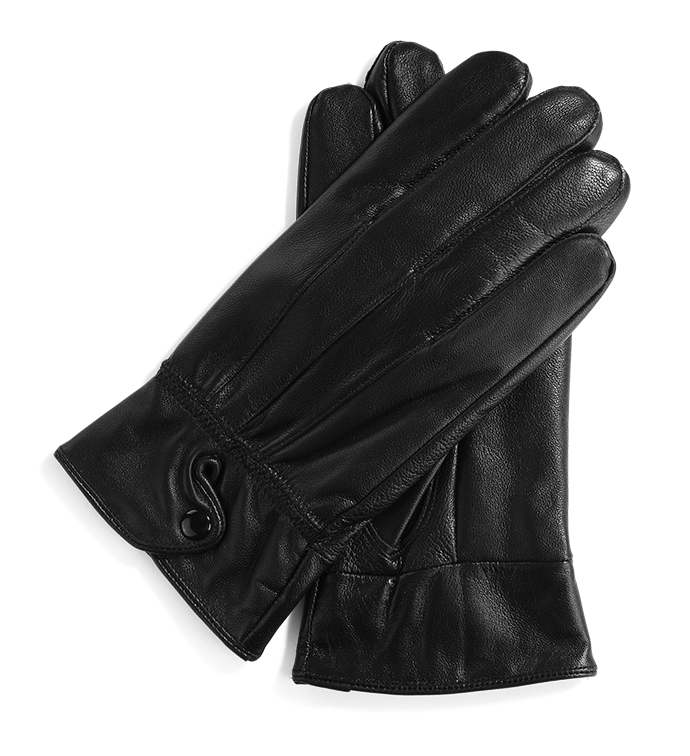 Black Glove with Snap Tab