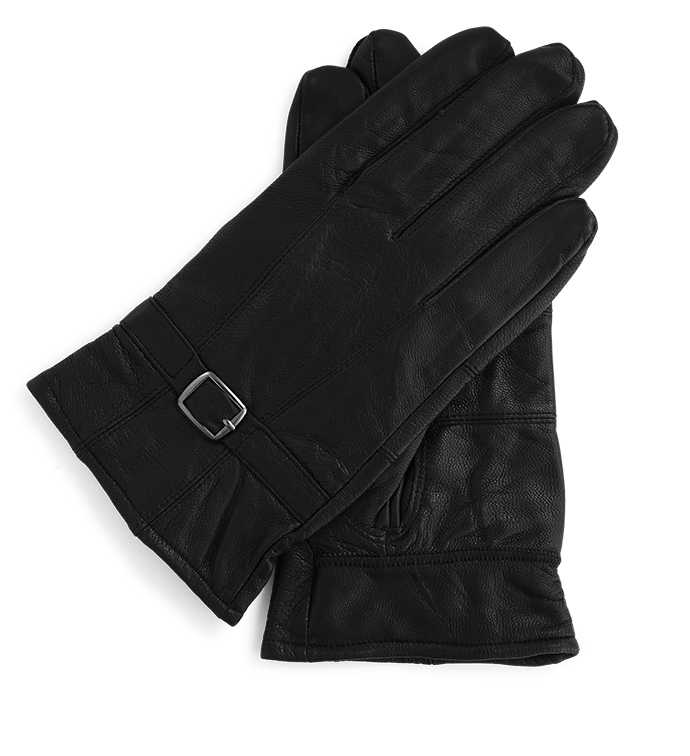 Black Glove with Buckle