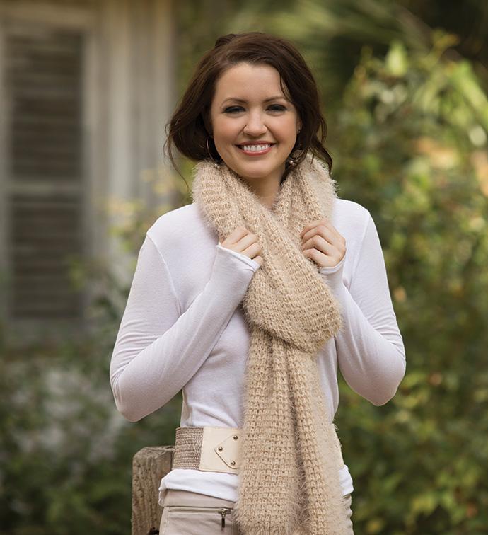 Cream Eyelash Knit Shrug