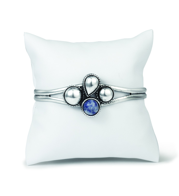 Blue Stone Cuff Bracelet