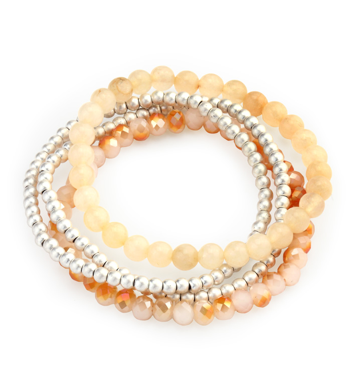 Amber Bead Stretch Bracelet