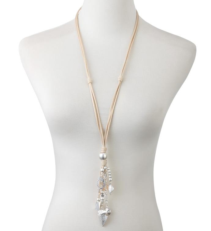 Amber Crystal Tassel Necklace