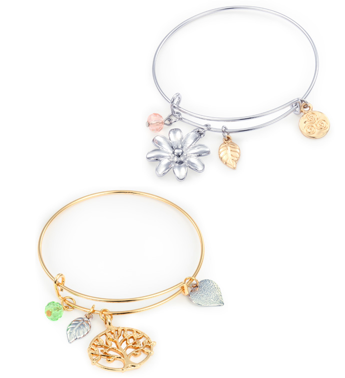 Tree/Flower Charm Bracelets