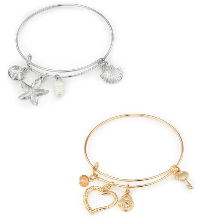 Heart/Starfish Charm Bracelets