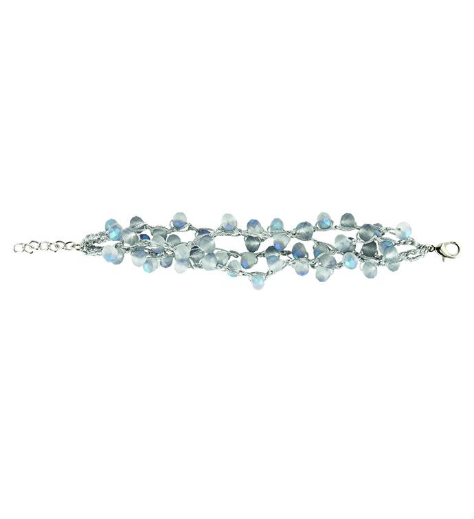 Blue Pearl Crochet Bracelet