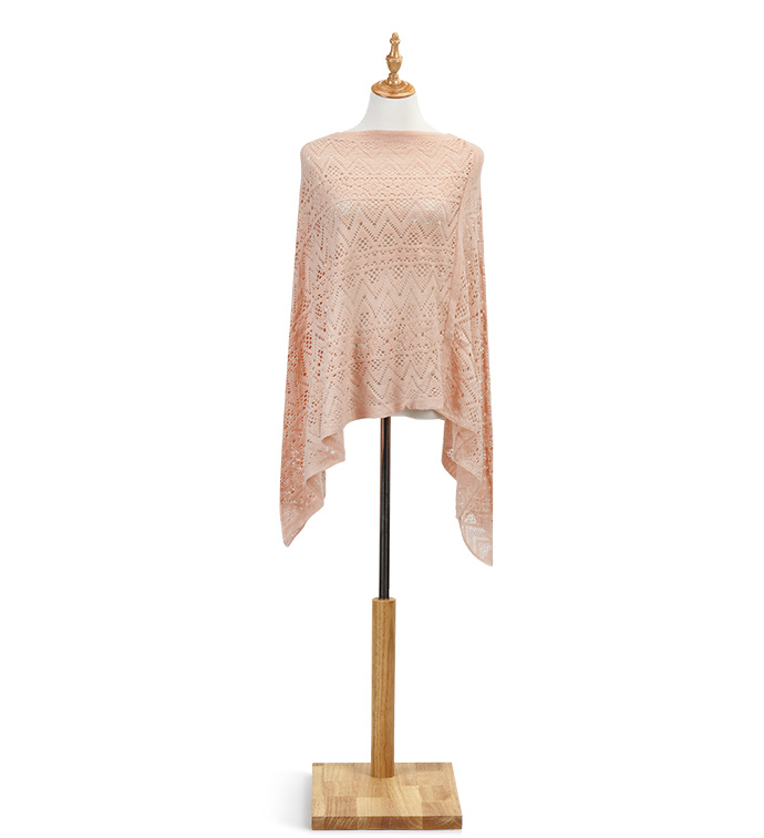 Peach Light Weight Poncho