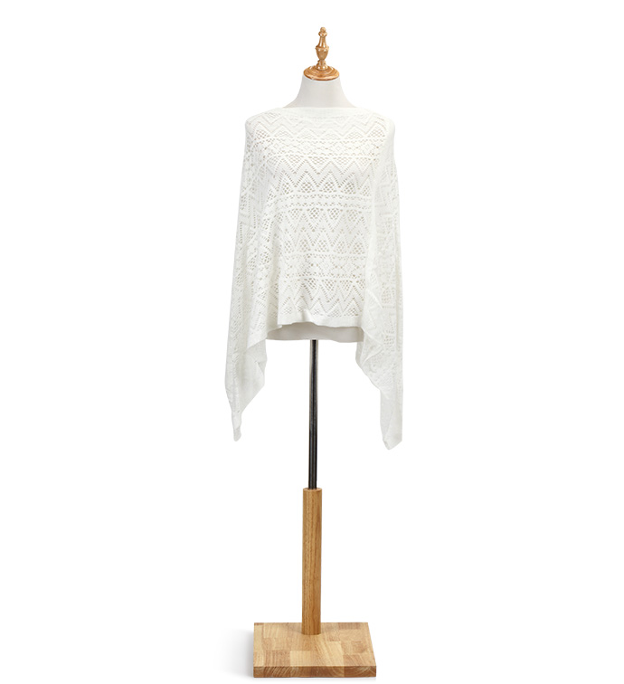 White Light Weight Poncho