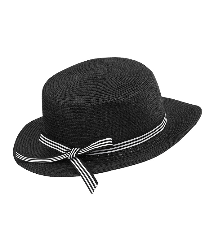Black Bowler Hat with Bow