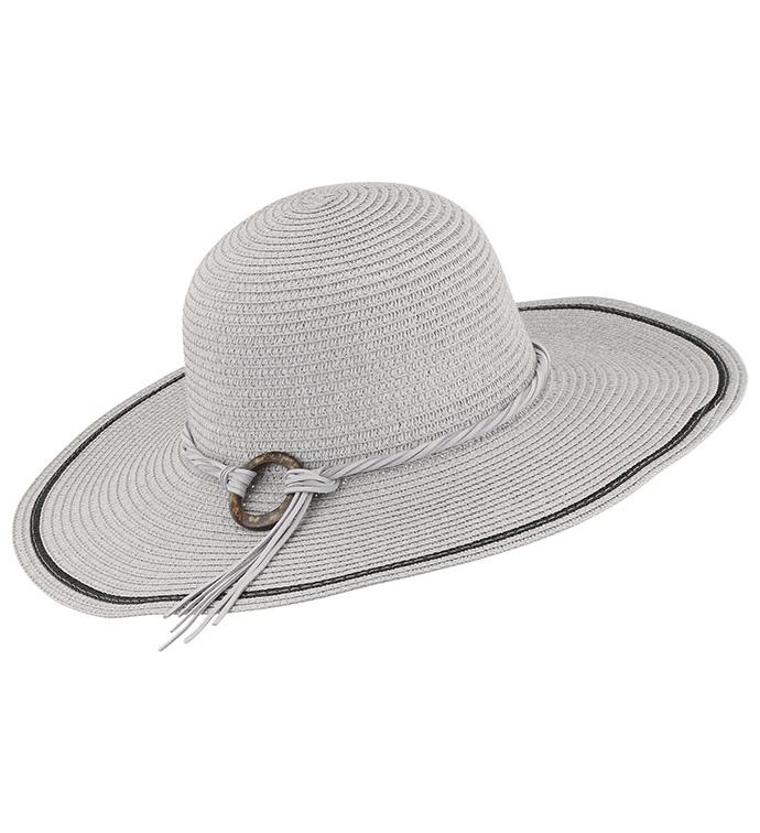 Grey Flat Brimmed Hat