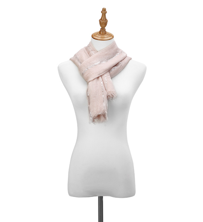 Rose Metallic Stripe Scarf