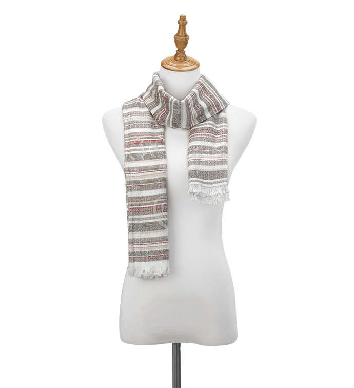 Tan Ticking Stripes Scarf