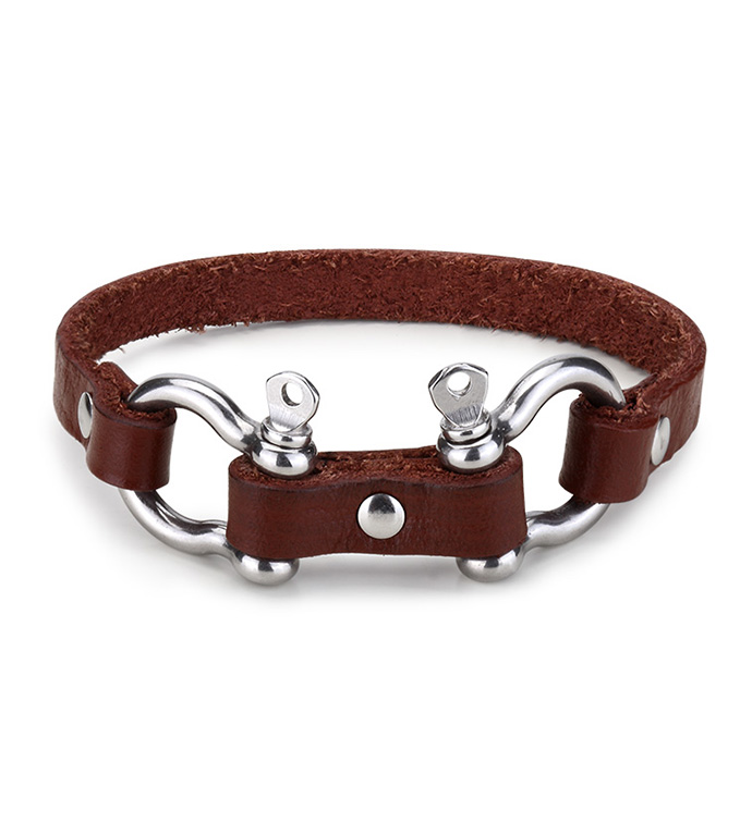 Brown Leather Equus Bracelet
