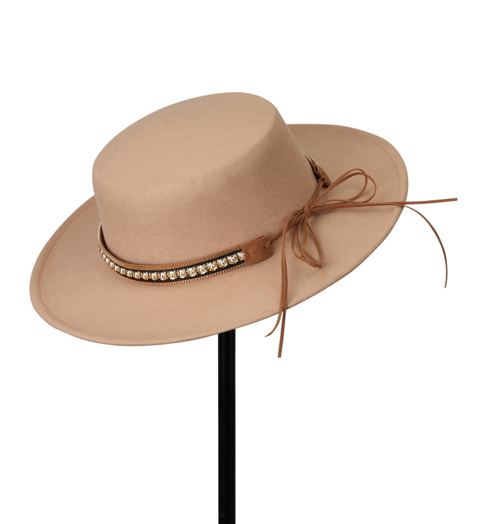Tan Gaucho Hat with Studded Belt