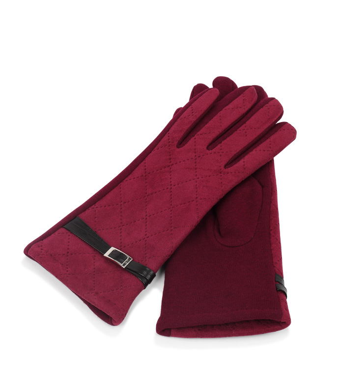 Red Glove with Double Belts