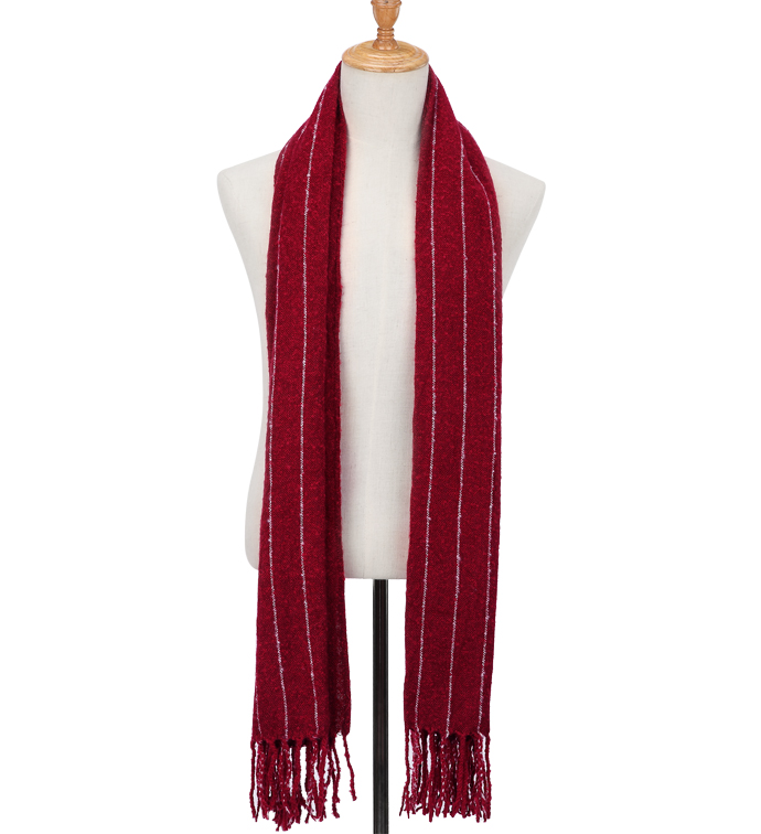 Red Pinstripe Blanket Scarf