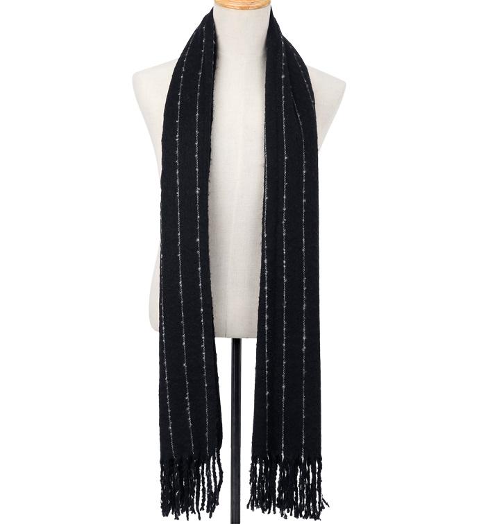 Black Pinstripe Blanket Scarf